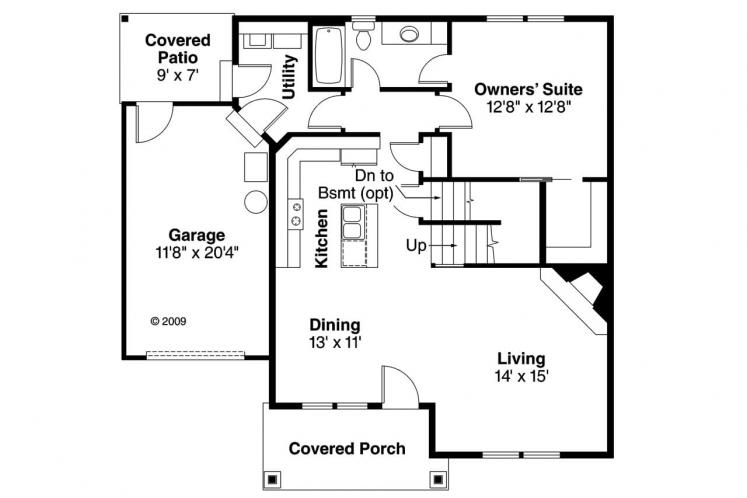 Country House Plan - Danville 81736 - 1st Floor Plan