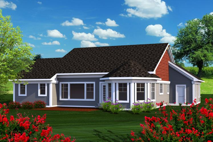 Country House Plan -  81737 - Rear Exterior