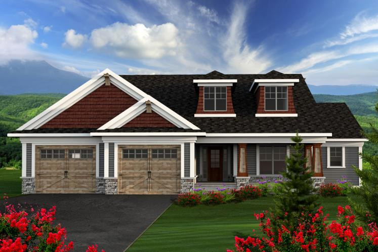 Craftsman House Plan -  81737 - Front Exterior