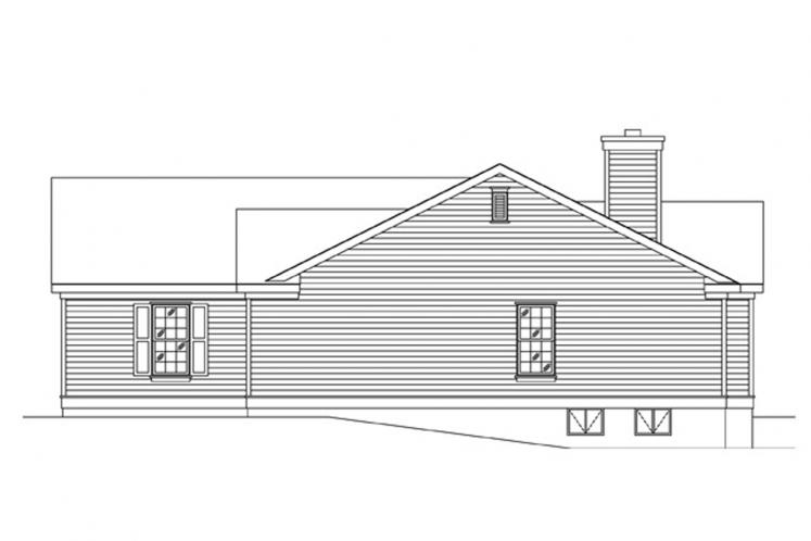 Ranch House Plan -  81753 - Right Exterior