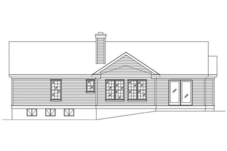 Cottage House Plan -  81753 - Rear Exterior