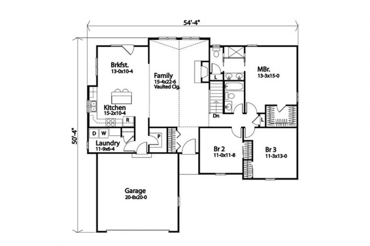 Cottage House Plan -  81753 - 1st Floor Plan
