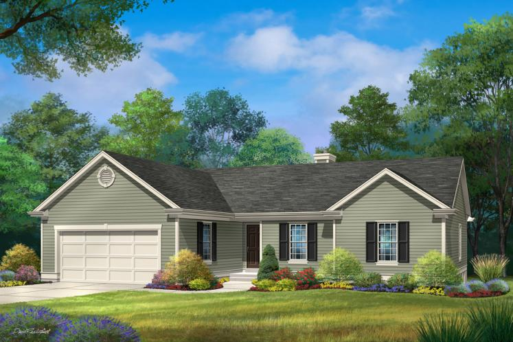 Ranch House Plan -  81753 - Front Exterior