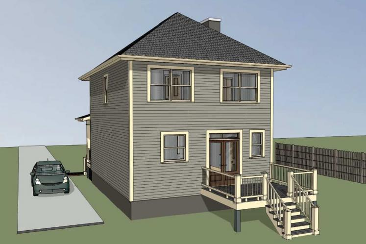 Traditional House Plan -  81895 - Right Exterior