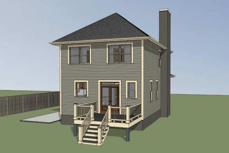 Country House Plan -  81895 - Left Exterior