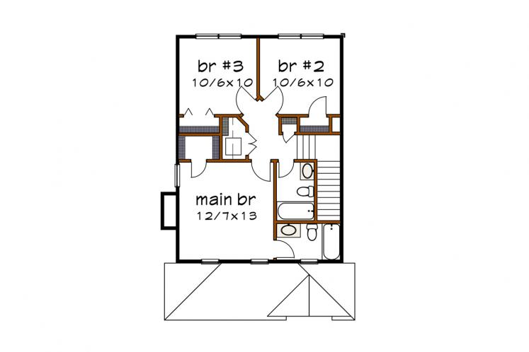 Country House Plan -  81895 - 2nd Floor Plan