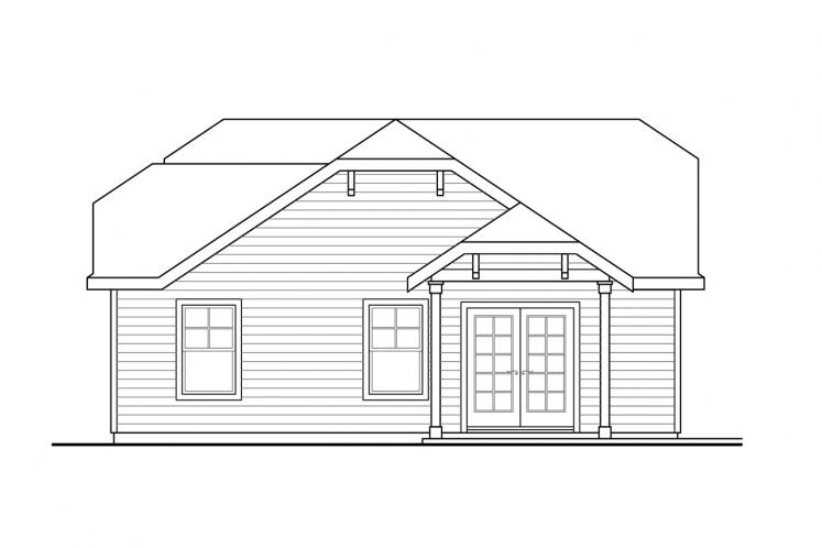 Cottage Garage Plan -  81912 - Left Exterior