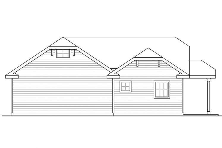 Traditional Garage Plan -  81912 - Rear Exterior
