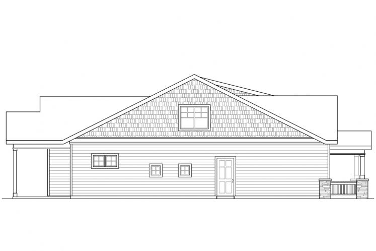 Craftsman House Plan - Nantucket 81952 - Left Exterior