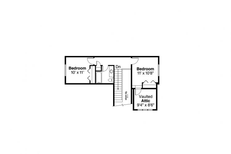 Craftsman House Plan - Nantucket 81952 - 2nd Floor Plan
