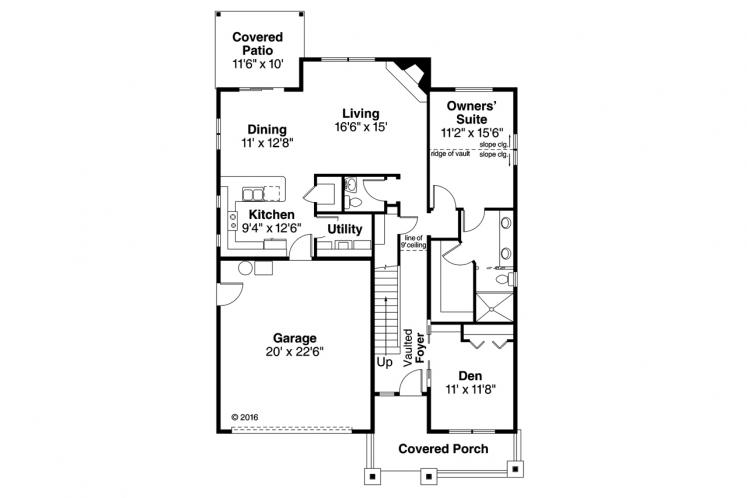 Bungalow House Plan - Nantucket 81952 - 1st Floor Plan