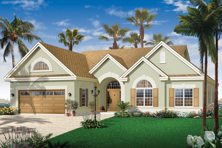 Spanish House Plan - Palmgrove 81959 - Front Exterior