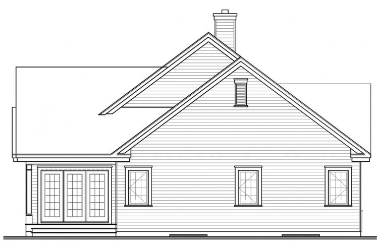 Craftsman House Plan - Maitland 3 81988 - Rear Exterior