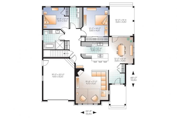 Country House Plan - Maitland 3 81988 - 1st Floor Plan