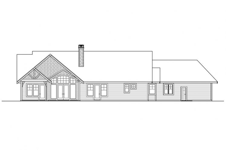 Bungalow House Plan - Myrtlewood 82013 - Rear Exterior