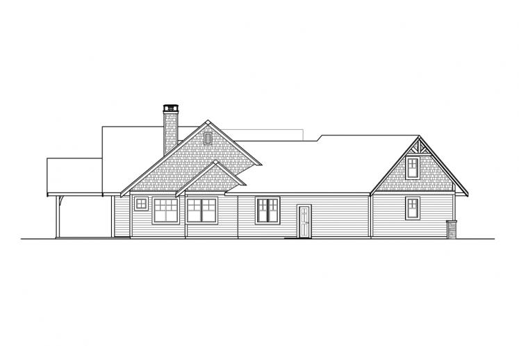 Craftsman House Plan - Myrtlewood 82013 - Left Exterior