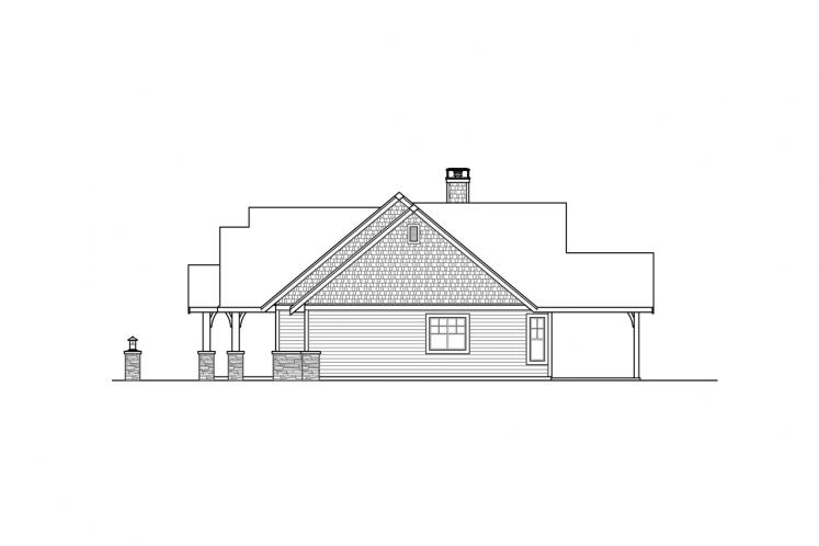 Lodge Style House Plan - Myrtlewood 82013 - Right Exterior