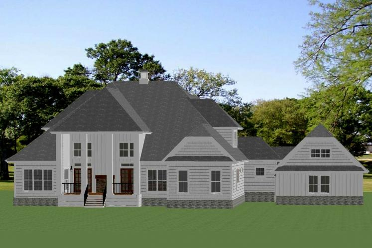 Country House Plan - Abbington 82043 - Rear Exterior