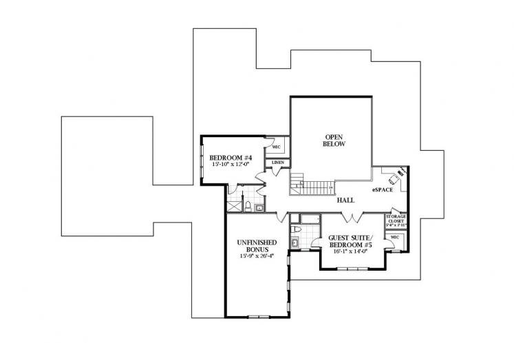 Country House Plan - Abbington 82043 - 2nd Floor Plan