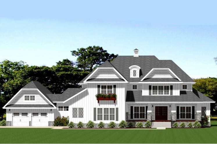 Farmhouse House Plan - Abbington 82043 - Front Exterior