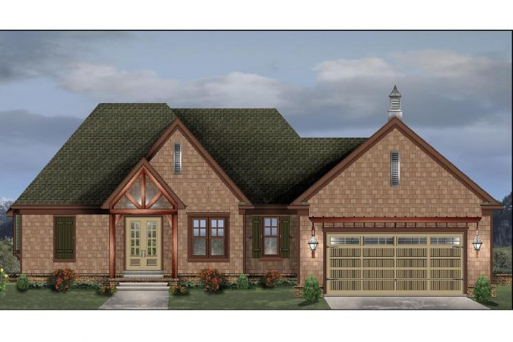 Ranch House Plan -  82072 - Front Exterior