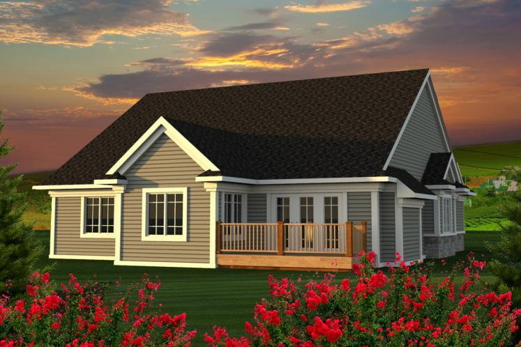 Ranch House Plan -  82119 - Rear Exterior