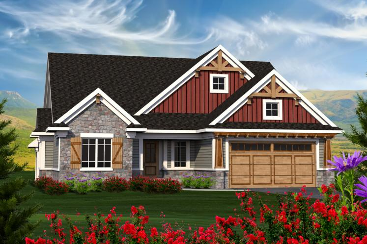 Craftsman House Plan -  82119 - Front Exterior