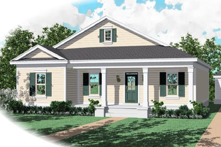 Country House Plan -  82144 - Front Exterior