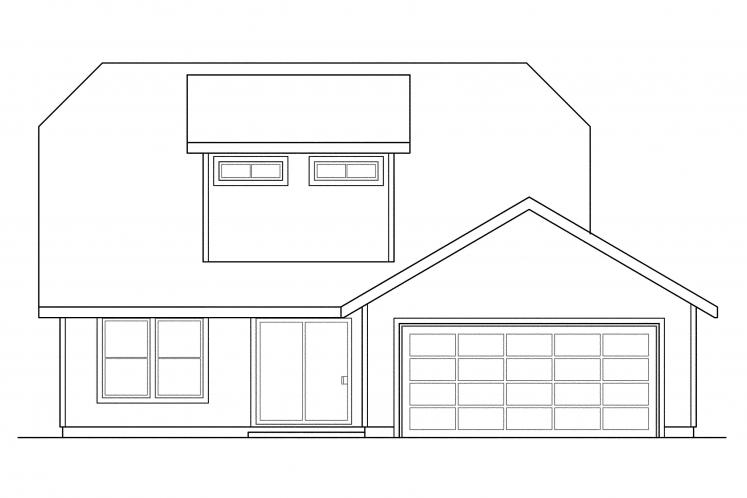 Country House Plan - Lawrence 82155 - Rear Exterior
