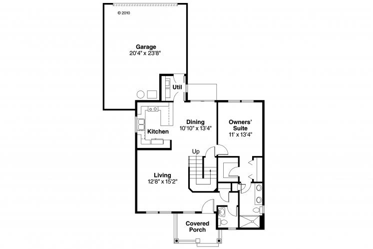 Country House Plan - Lawrence 82155 - 1st Floor Plan