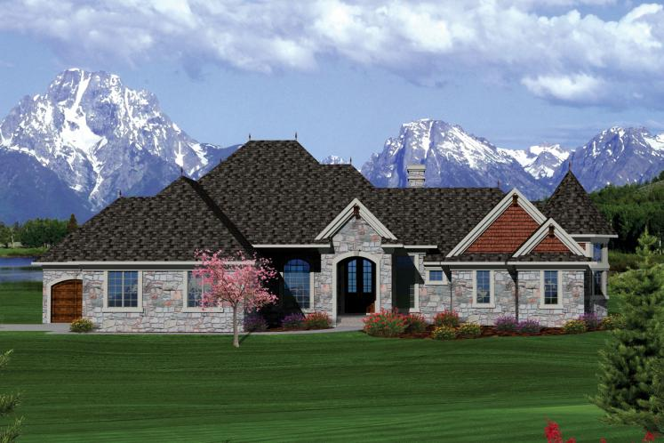 Classic House Plan -  82229 - Front Exterior