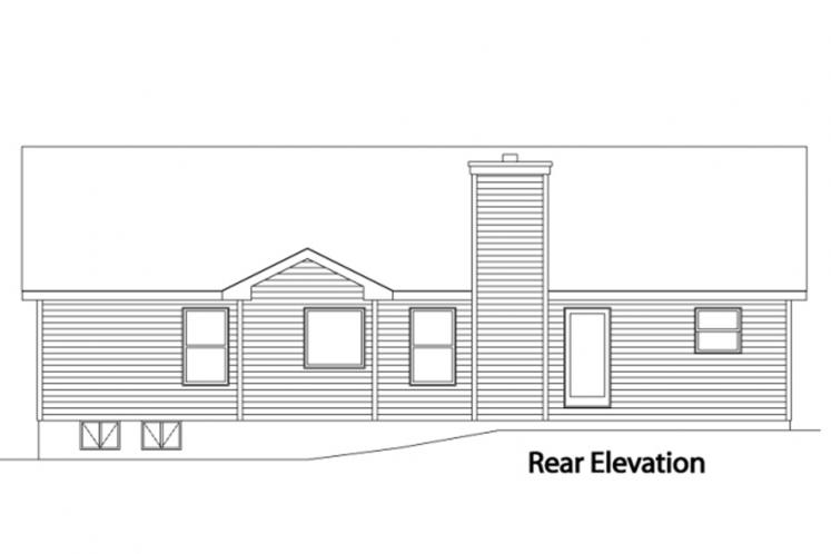 Traditional House Plan -  82237 - Rear Exterior