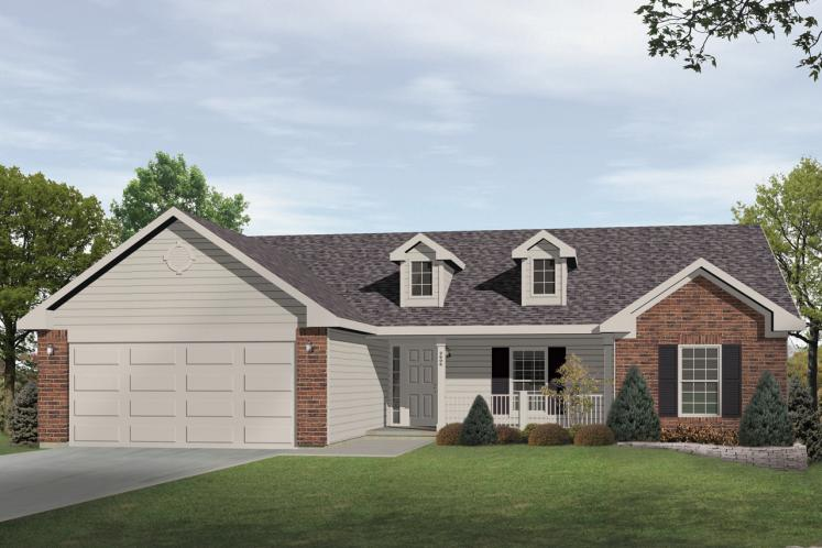 Ranch House Plan -  82237 - Front Exterior