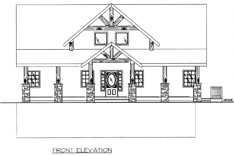 Lodge Style House Plan -  82244 - Front Exterior