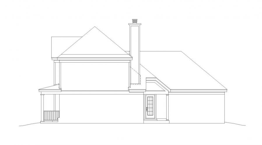 Country House Plan -  82264 - Right Exterior