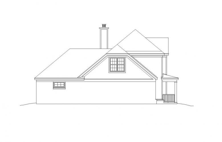 Southern House Plan -  82264 - Left Exterior