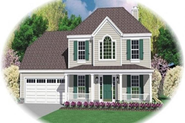 Country House Plan -  82264 - Front Exterior