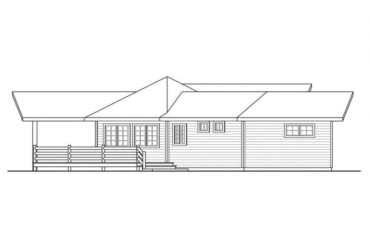 Ranch House Plan - Greenview 82359 - Left Exterior