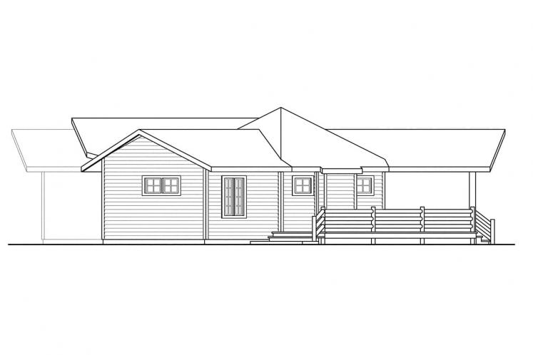Lodge Style House Plan - Greenview 82359 - Right Exterior