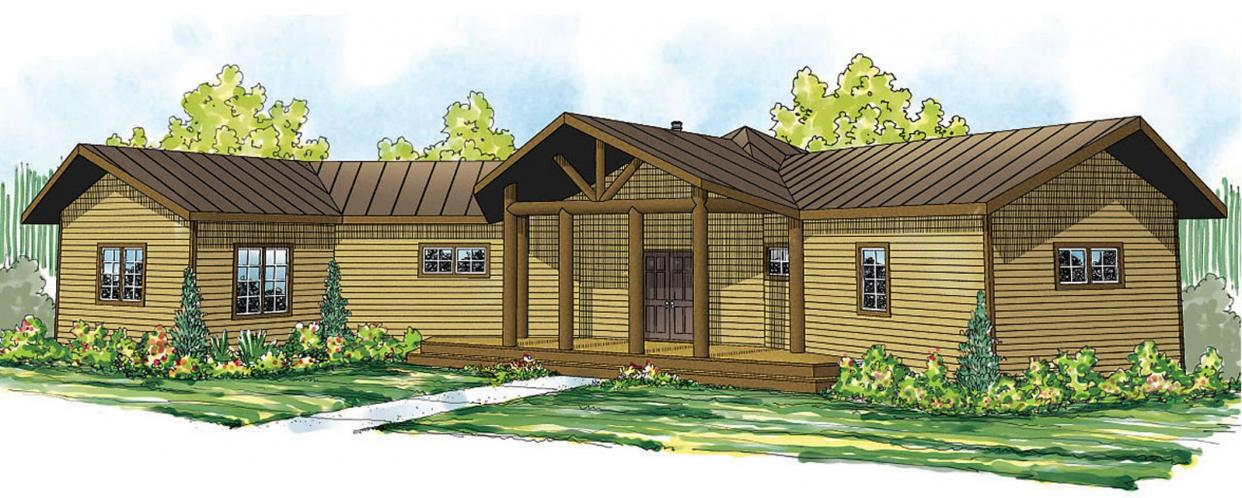 Lodge Style House Plan - Greenview 82359 - Front Exterior