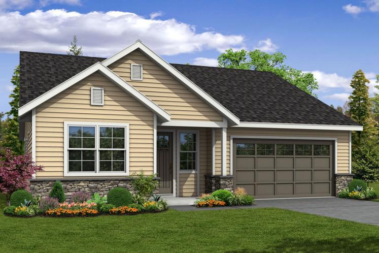 Ranch House Plan - Arborbrook 82386 - Front Exterior