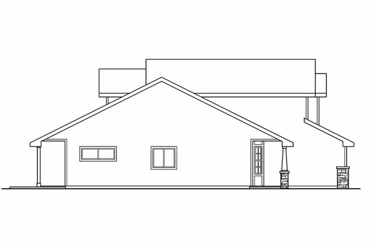 Traditional House Plan - Bigsby 82491 - Left Exterior
