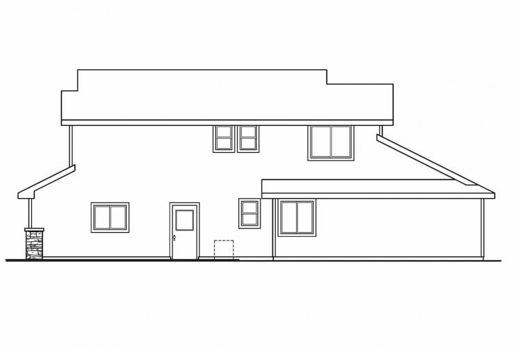 Craftsman House Plan - Bigsby 82491 - Right Exterior