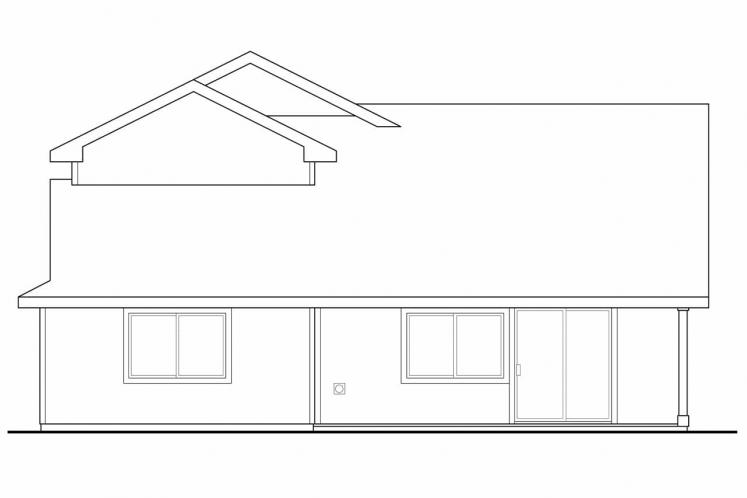 Country House Plan - Bigsby 82491 - Rear Exterior