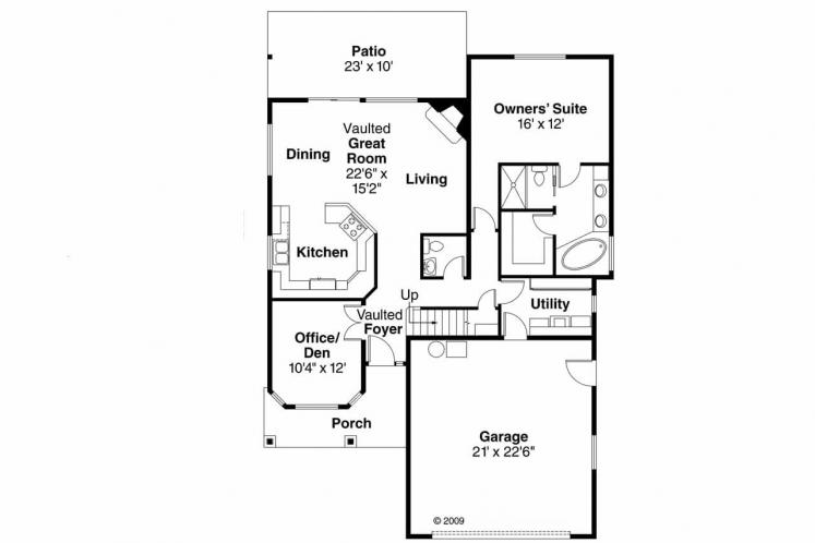 Country House Plan - Bigsby 82491 - 1st Floor Plan