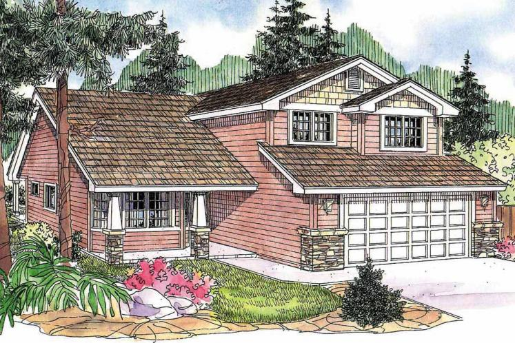 Craftsman House Plan - Bigsby 82491 - Front Exterior