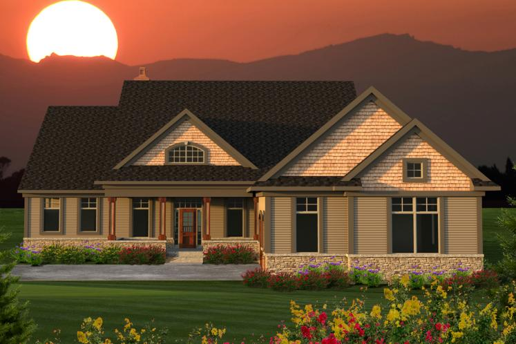 Craftsman House Plan -  82516 - Front Exterior