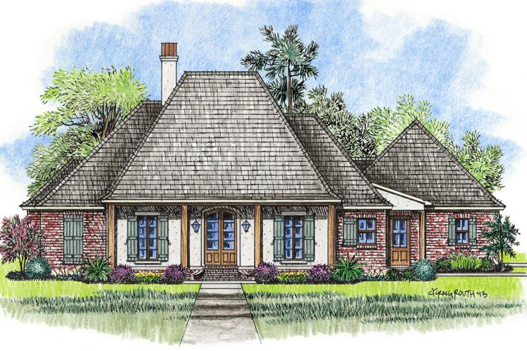 Classic House Plan - Livingston 82517 - Front Exterior