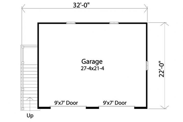 Country Garage Plan -  82568 - 1st Floor Plan