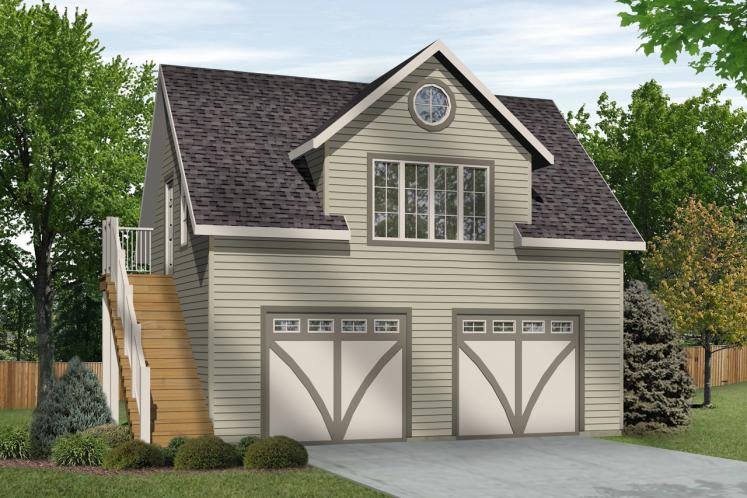Country Garage Plan -  82568 - Front Exterior